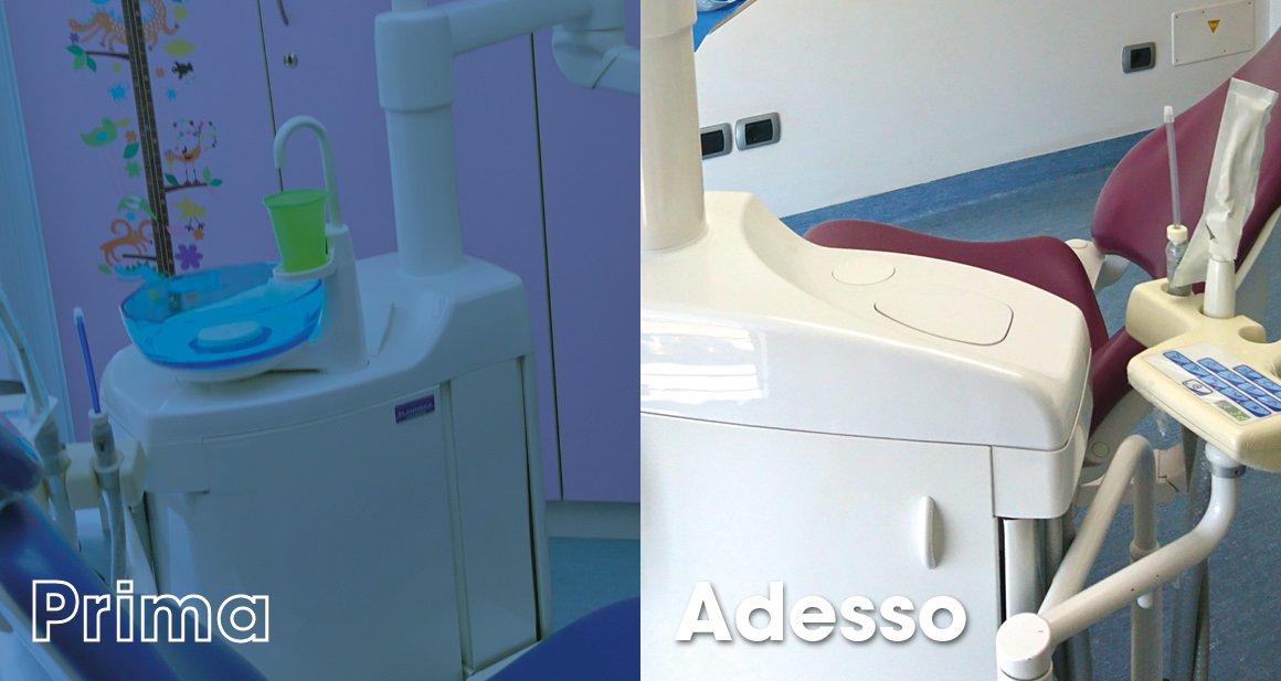 Studio Dentistico Cagnin - nuova e vechia sputacchiera